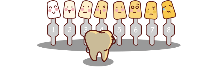 tandblekning nyanser
